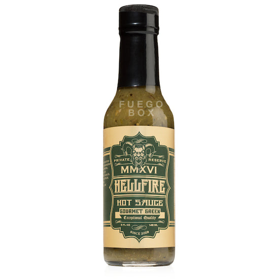 Hellfire Gourmet Green Hot Sauce