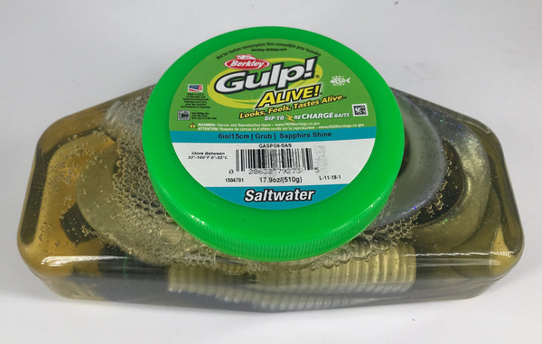Berkley GULP! Alive 6in/15cm Grub Soft Bait Tub