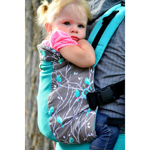 kinderpack infant and baby carrier sparrow song