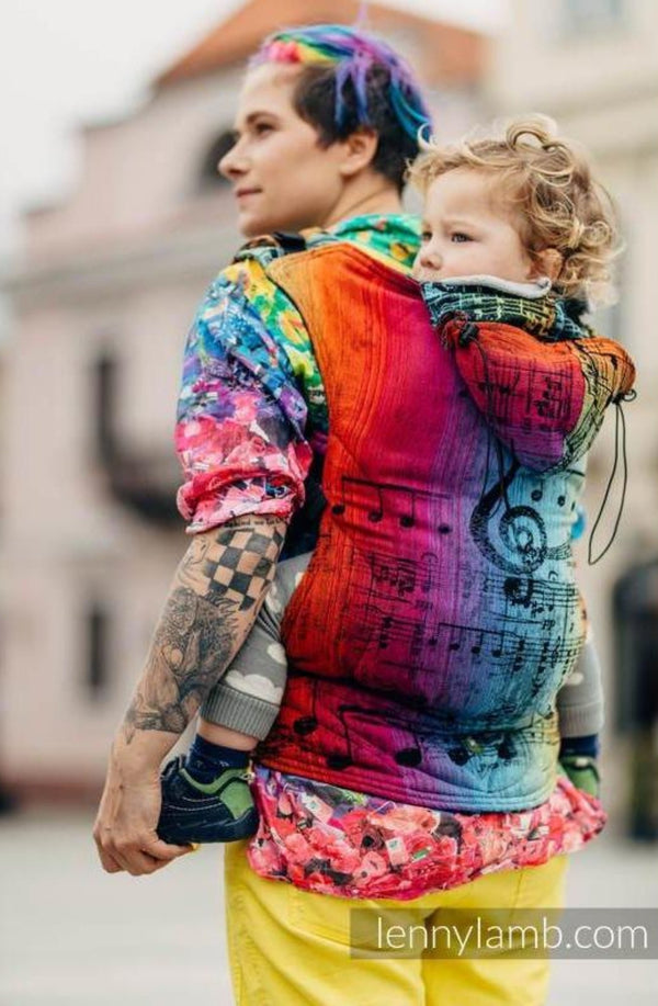 lenny lamb rainbow symphony dark baby carrier