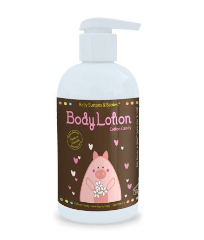 belly buttons and babies all natural lotion cotton candy