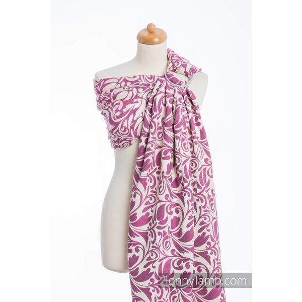 LennyLamb Ring Sling - Twisted Leaves Purple & Creme