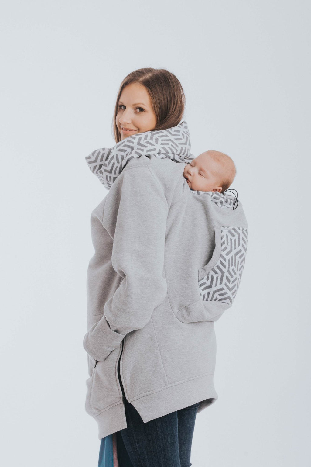 babywearing sweater canada lennyamb grey with pearl