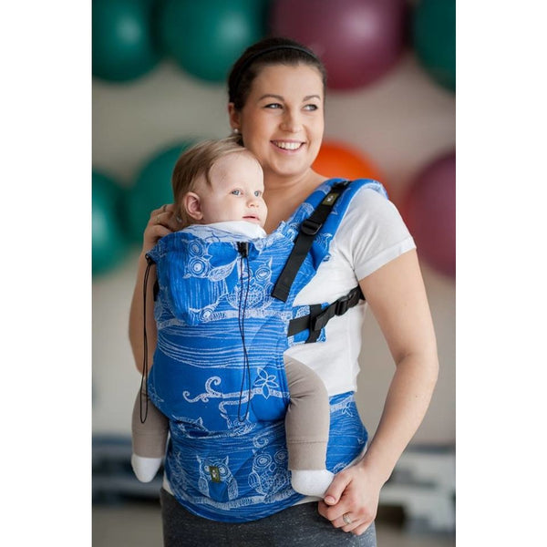 Lenny lamb baby carrier blue owls