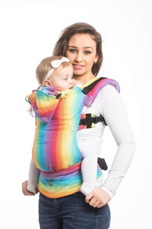 lenny lamb baby carrier canada herringbone rainbow light