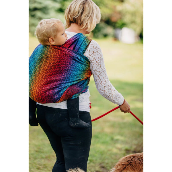 lenny lamb baby carrier big love rainbow dark woven wrap
