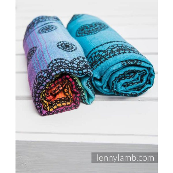 LennyLamb Swaddle Blanket Set - Divine Lace/Rainbow Lace Dark