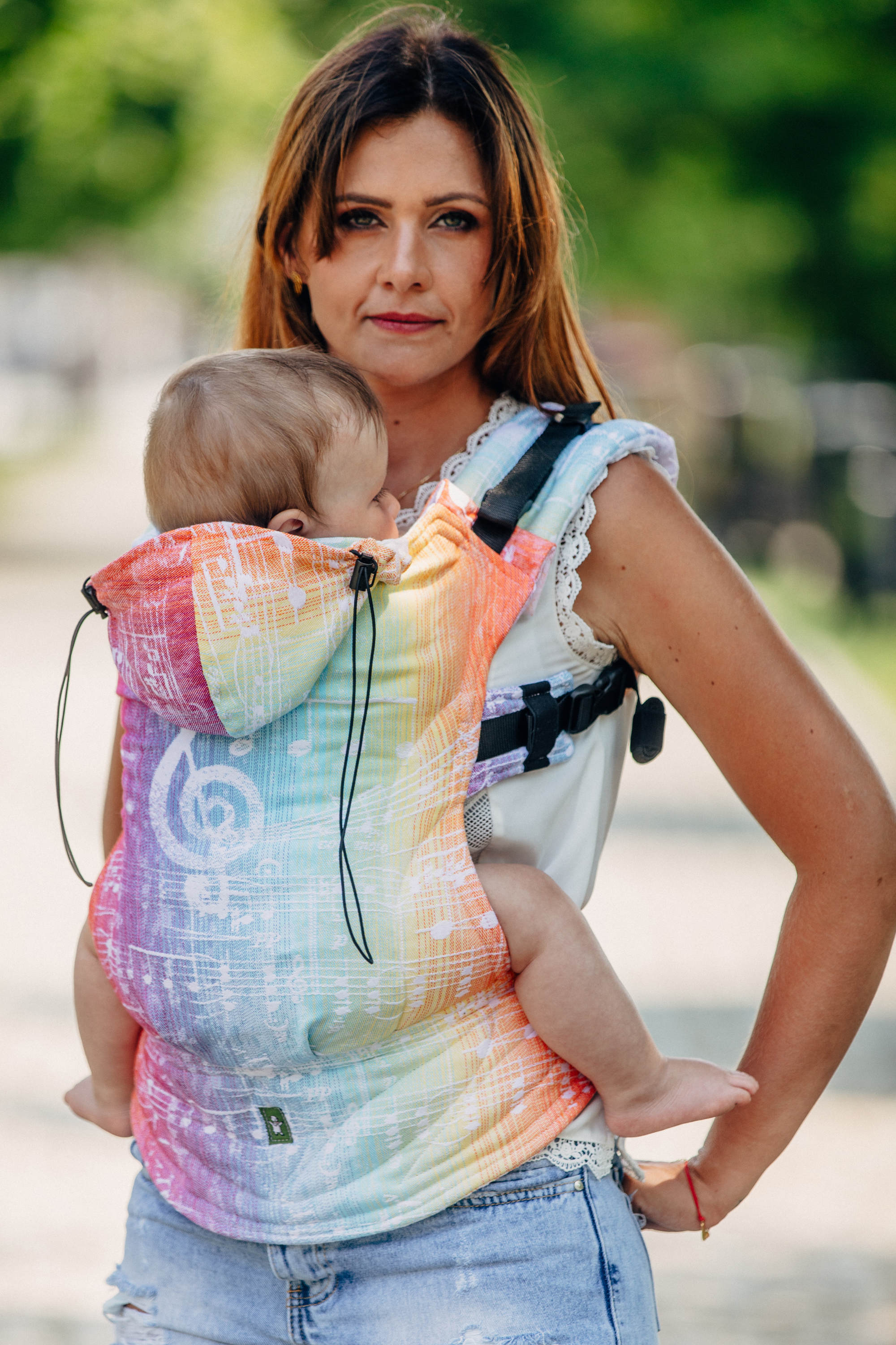 597a2aca85b LennyUp Infant Buckle Carrier - Symphony Rainbow Light – Snips ...