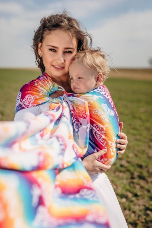 lennylamb butterfly rainbow light ring sling