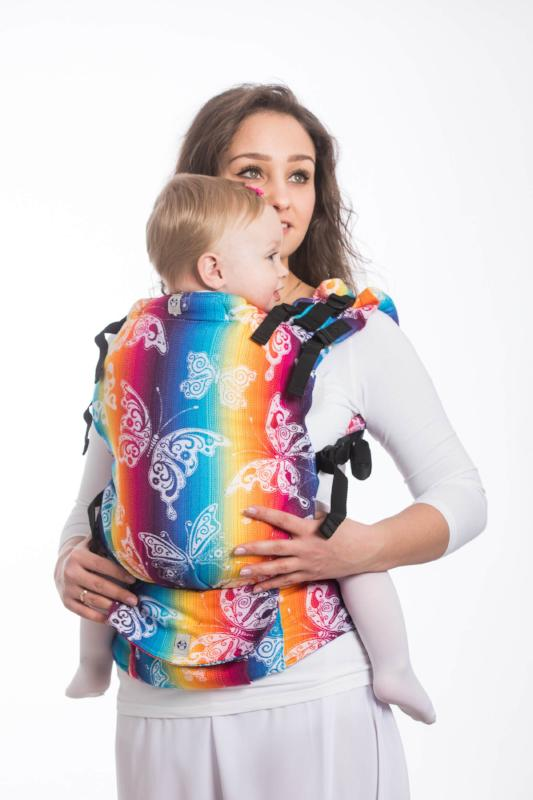 LennyUp Infant Buckle Carrier - Butterfly Rainbow Light
