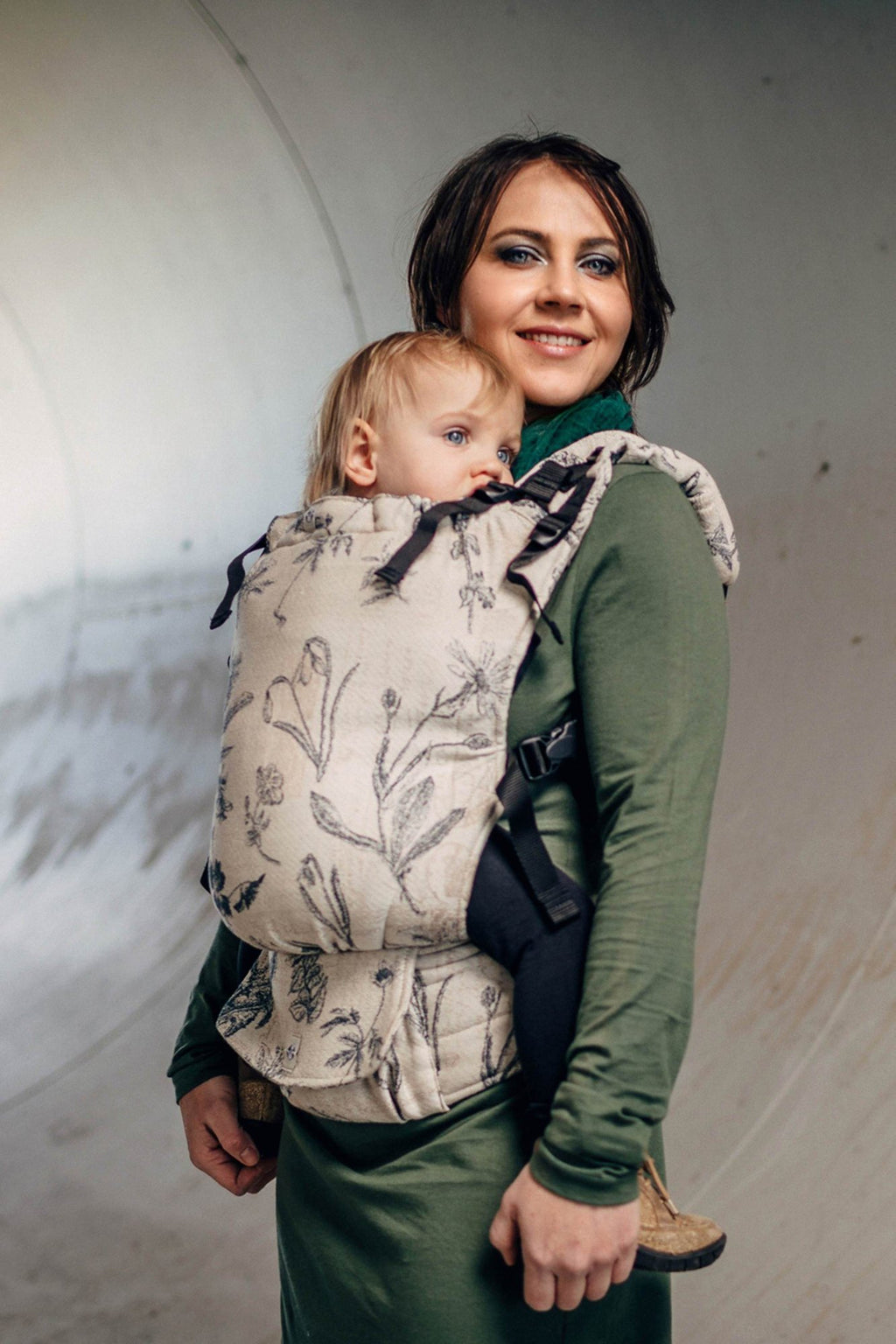 LennyUp Infant Buckle Carrier - Herbarium