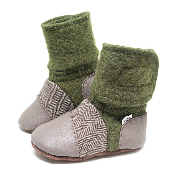 Nooks Booties for Baby & Toddler - Coastal Forest