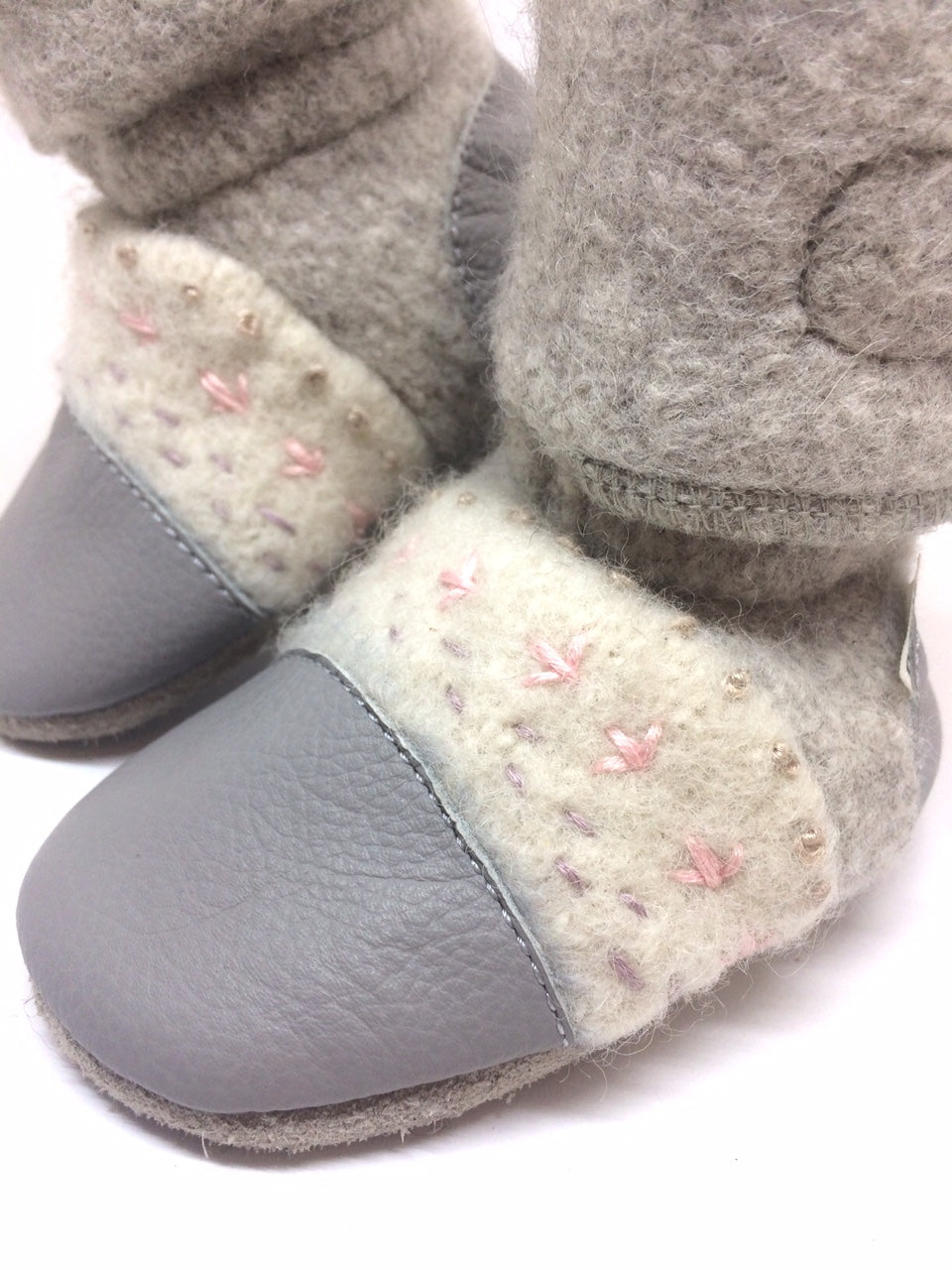 735b15c460ca2 Nooks Embroidered Booties for Baby & Toddler - Narwhal