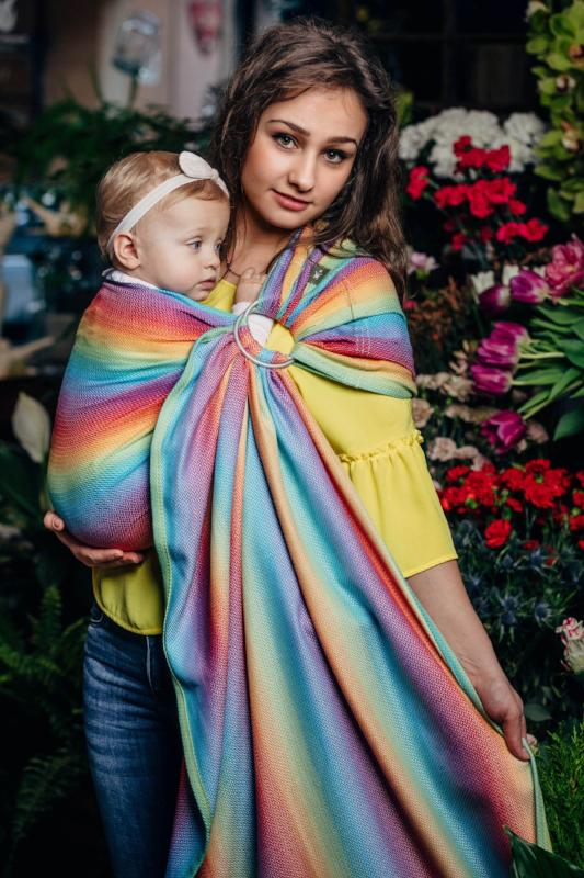 lenny lamb herringbone rainbow light ring sling