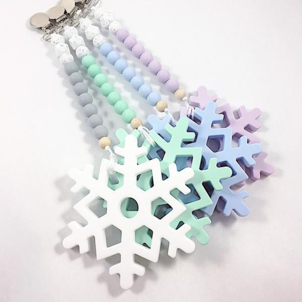 silicone teething toy canada snowflake