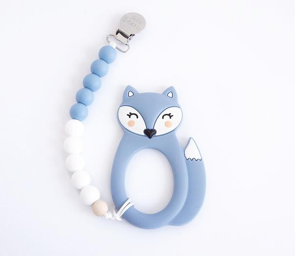 teething jewellery canada silicone teether fox blue
