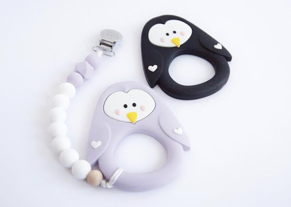 silicone teething toys canada penguin