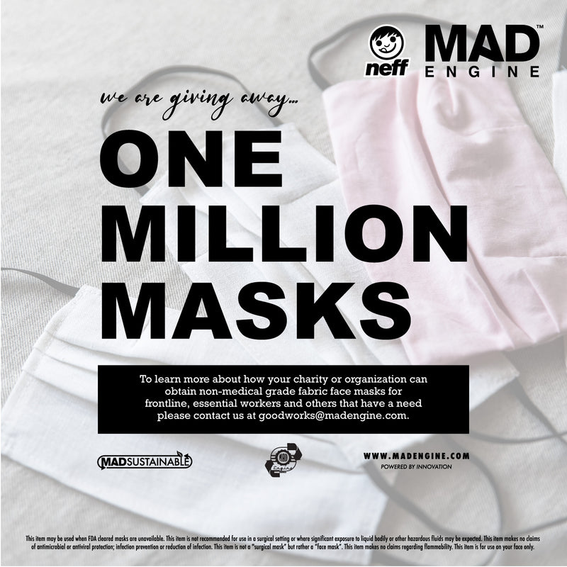 MAD ENGINE & NEFF HEADWEAR GIVE AWAY ONE MILLION MASKS