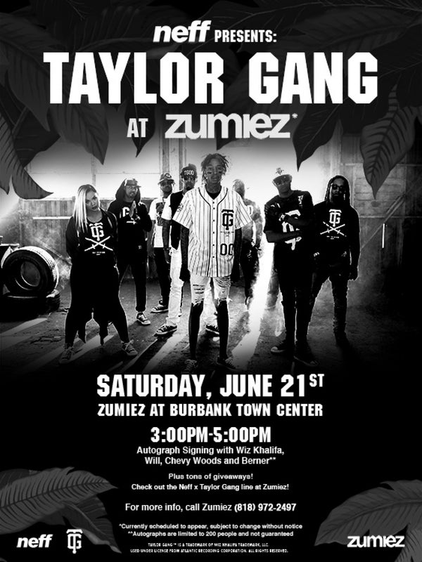 NEFF IS BRINGING THE TAYLOR GANG TO ZUMIEZ
