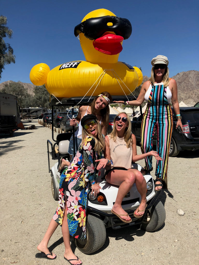 The girls and their private transport