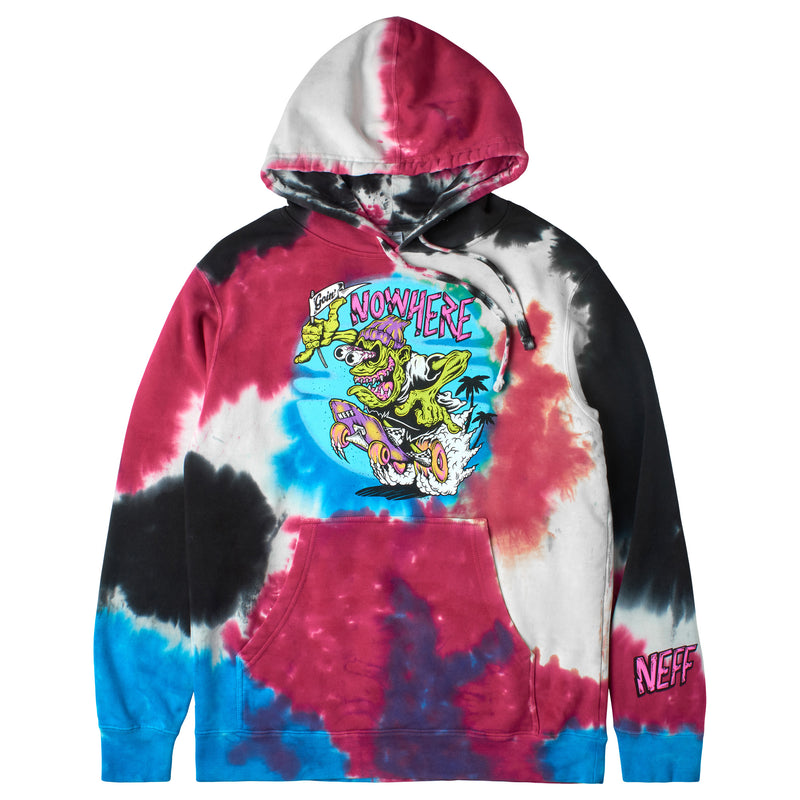 NOWHERE TO GO TIE DYE PULLOVER HOODIE - MULTI