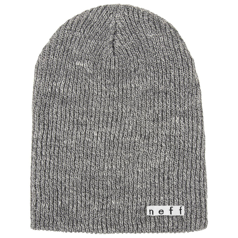 DAILY HEATHER BEANIE GREY HEATHER WHITE