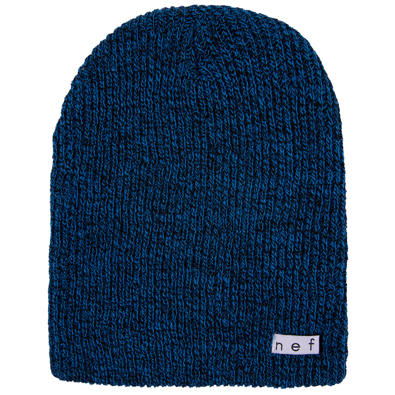DAILY HEATHER BEANIE BLACK BLUE
