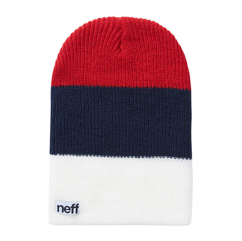 TRIO BEANIE - RED/BLUE/WHITE