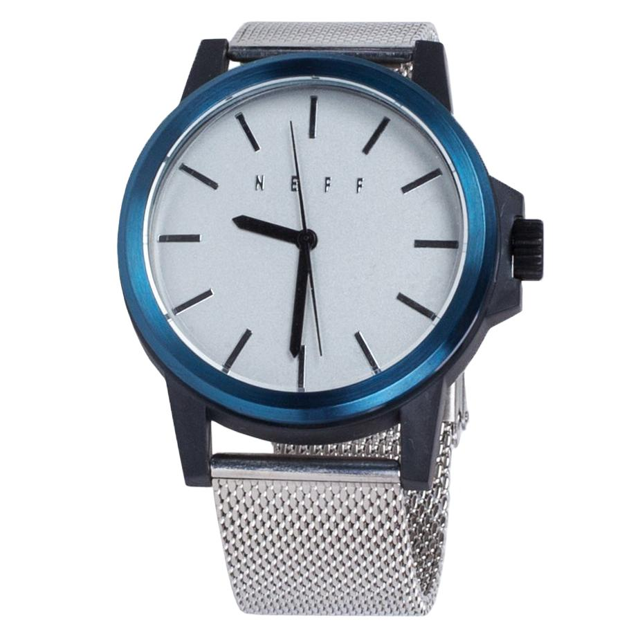 CARBINE MESH WATCH SILVER/WHITE/ROYAL