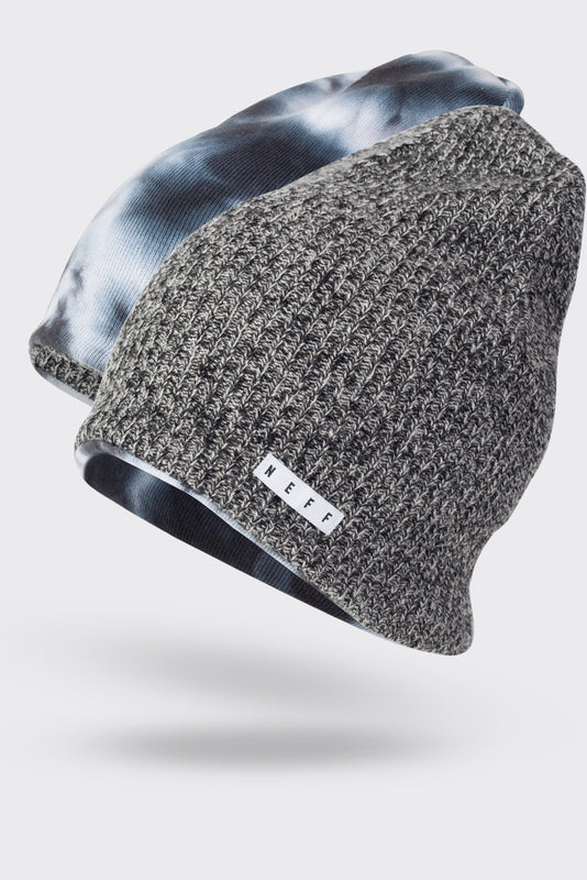 BLACK BONE BLACK WHITE. CRYSTAL HEATER REVERSIBLE BEANIE d509fc8900e