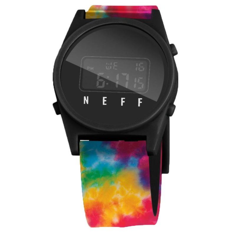 DAILY DIGITAL WATCH TIE DYE/BLACK