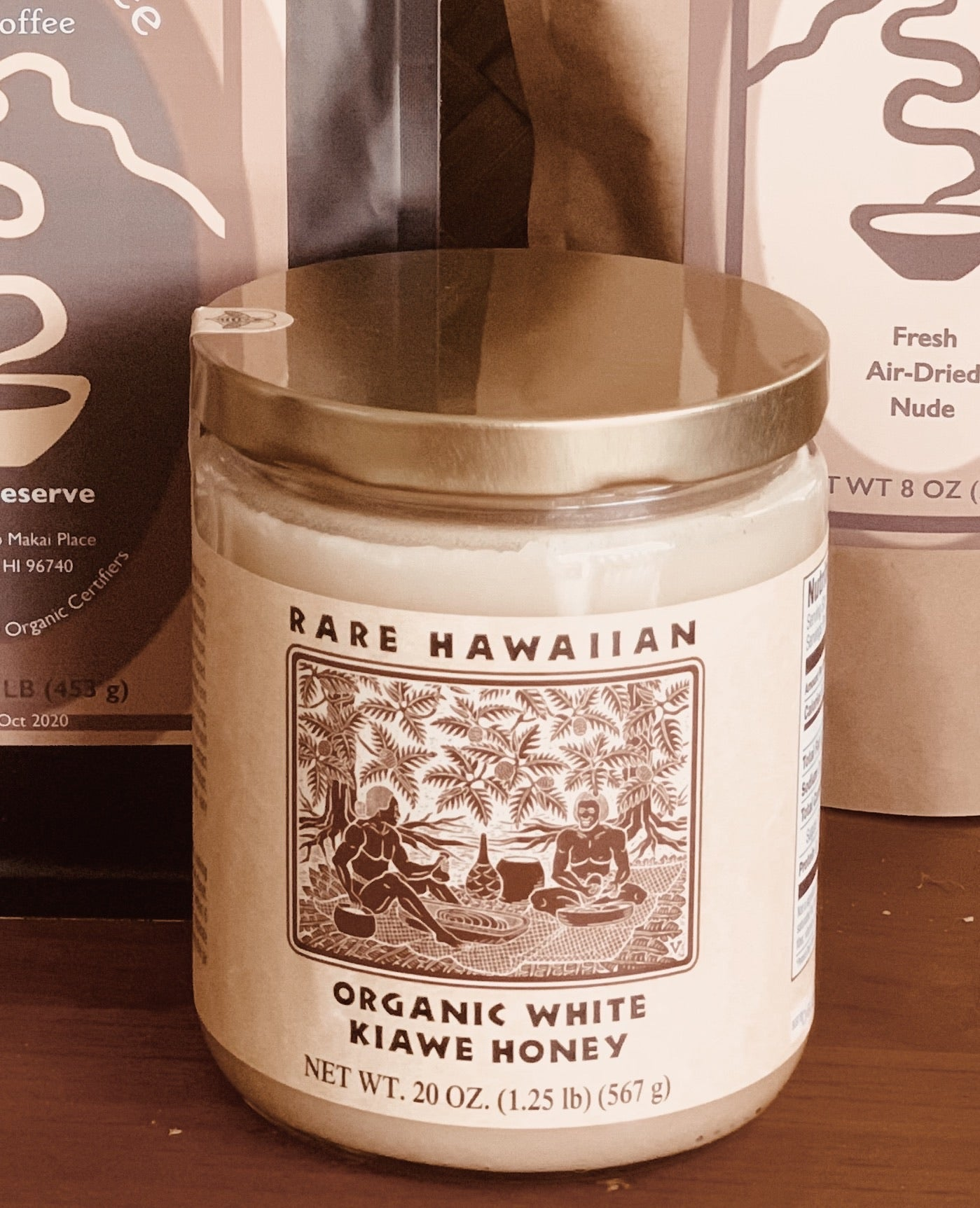 Rare Hawaiian Organic White Kiawe Honey