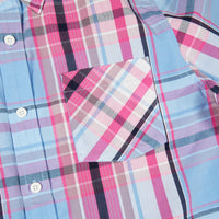 BEACON SHORT SLEEVE WOVEN PALE BLUE PLAID