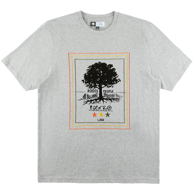 TEAM ROOTS PEOPLE KNIT TEE ATHLETIC HEATHER