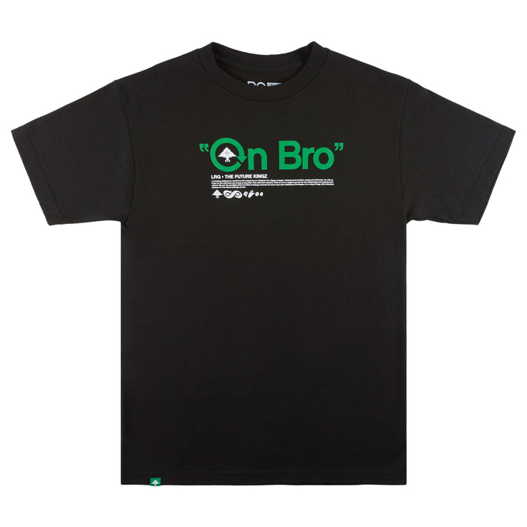 TFK ON BRO TEE BLACK