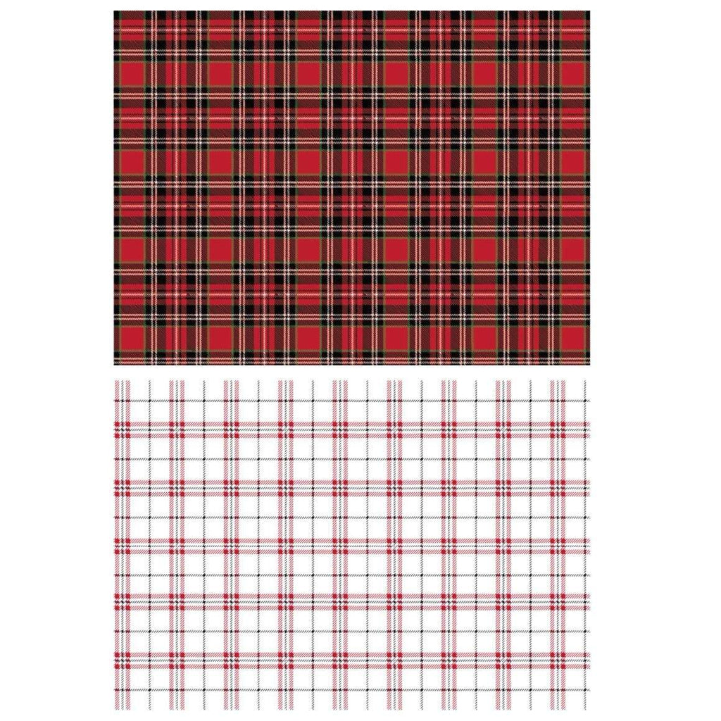 Gingham Red Transfer