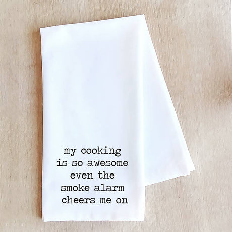 My Cooking is So Awesome Tea Towel
