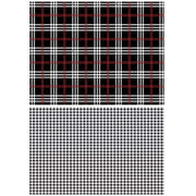 Gingham Black Transfer