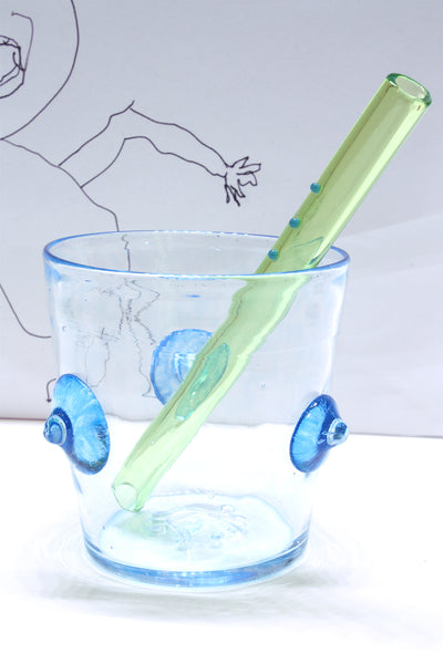 "DING-A-LING STRAW in Green (6"")"