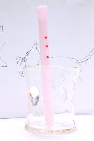 "DING-A-LING STRAW in Pink (6"")"