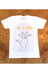 REPTILE TEE in Neon Lavender
