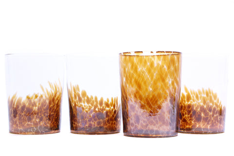 SPRITZ SET of FOUR in Silvered Amber