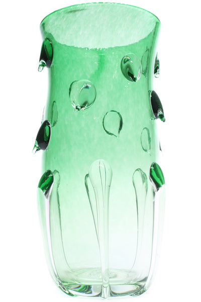 DRIP VASE in Emerald (Tall, Trumpeted)