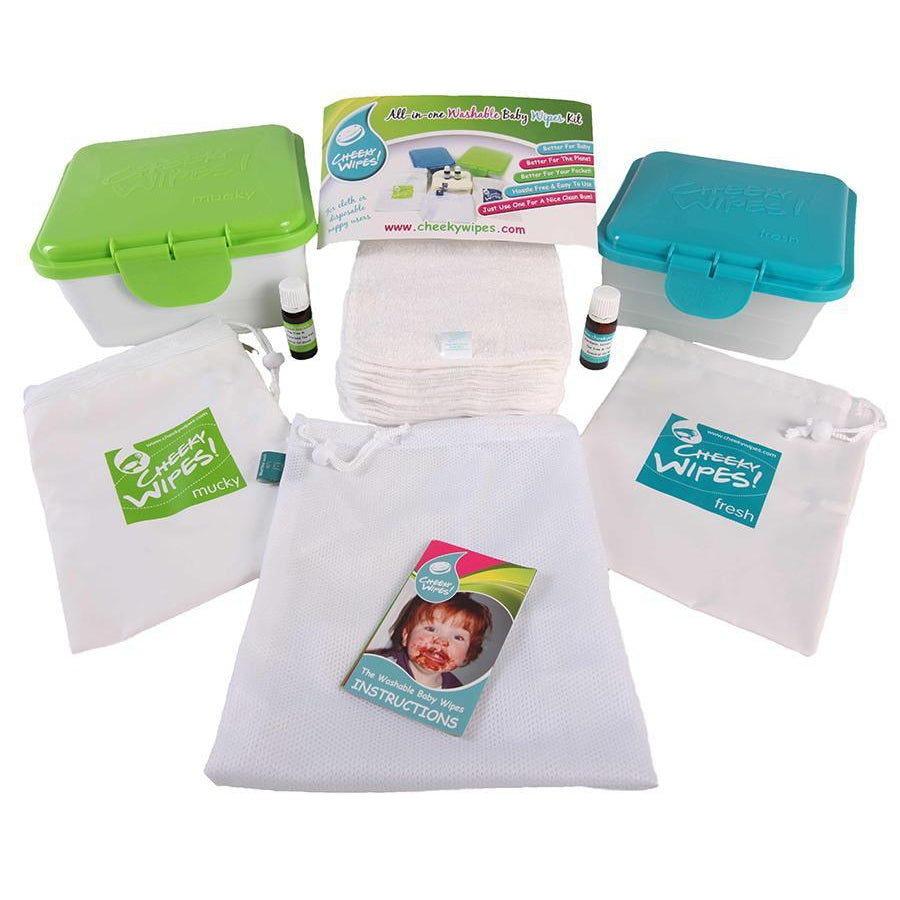 Real Nappies reusable cloth nappies-All-in-One Kit Reusable Wipes-