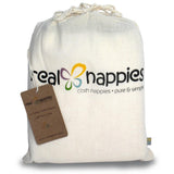 Real Nappies reusable cloth nappies-Cotton Nappy Prefolds - 6 pack-