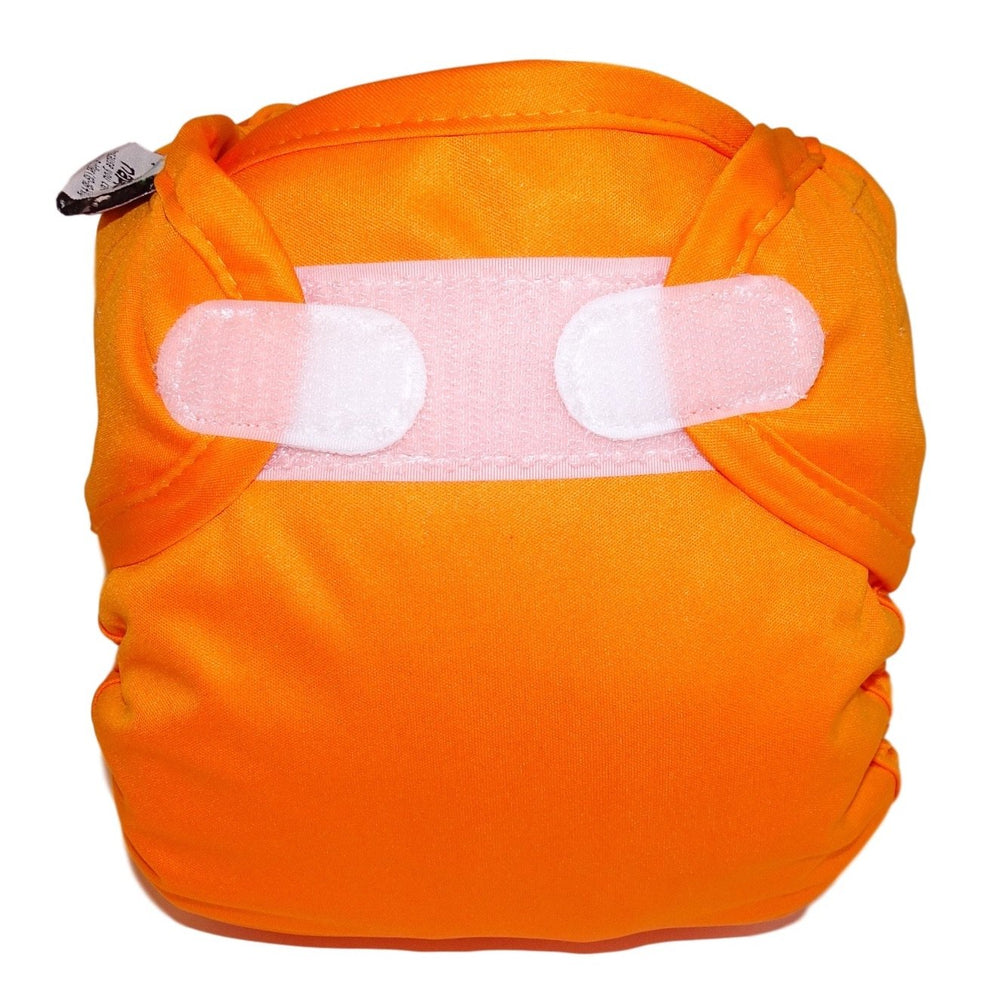 Real Nappies reusable cloth nappies-Snug Wrap Nappy Cover - NEWBORN (2.5-6kg)-Orange