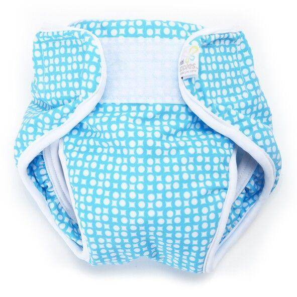 Real Nappies reusable cloth nappies-Splash Wrap Swim Nappy-Blue
