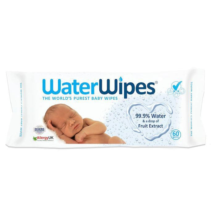 Real Nappies reusable cloth nappies-WaterWipes Disposable Wipes 60pk-