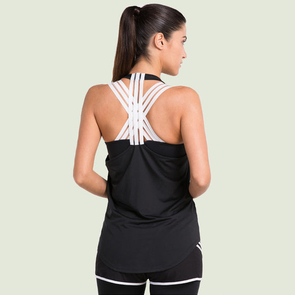 Running/workout Tank. Flexible quick dry fabric allows movement stays in shape.