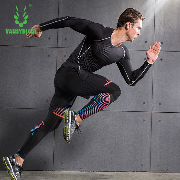 Workout, running, sports set with shorts, compression shirt and tights. Perfect set for any athlete!